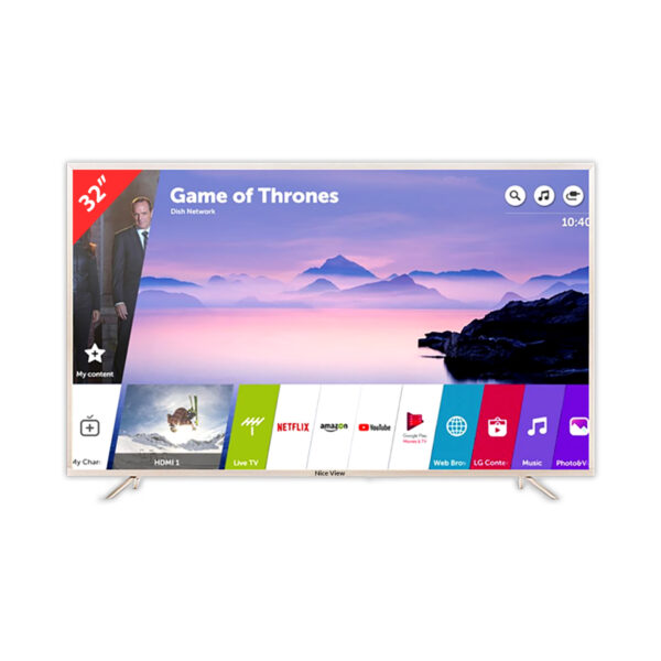 """Nice View 32"""" Smart Android Metal Body Double Glass LED TV"""